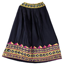 Traditional Women's Waist Skater Long Banjara Indian Embroidered Vintage Skirts