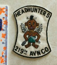 US Army  219th Aviation Company patch Vietnam theater made HEADHUNTERS