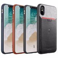 iPhone X iPhone Xs Credit Card Case | Nubuck Series Premium Leather Cover