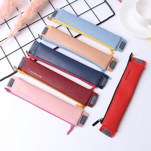 PU Leather Mini Pen Bag Eco-friendly Elastic Book Pencil Case Pencil Hol iaJCRI