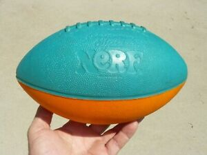 RARE Vintage Original Parker Brothers USA Official Foam NERF Two Tone Football