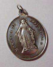 "Médaille religieuse ancienne "" Monstra Te Esse Matrem "" - argent massif"
