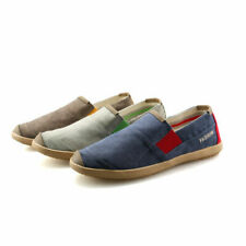 Mens Canvas Pumps Driving Moccasins Slip on Loafers Breathable Crazy Shoes New