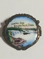 Vintage General View Niagara Falls Canada Hand Painted Enamel Souvenir Pin