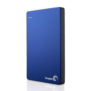 Seagate Backup Plus Slim 1TB USB Portable External Hard Drive USB 3.0 HDD Blue