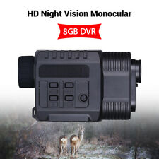 AU Digital Night Vision Monocular IR Infrared Scope 9x21 Zoom Video DVR 8gb