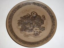 "Poole England ""Devotion"" Plate, Raised Mother Duck/Ducklings, 1980 Mothers Day"