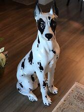 Vintage Life Size Ceramic Dog - Great Dane (Italy)