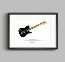 Thom yorke's 1972 deluxe telecaster art poster a3 size