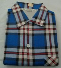 Nos 50's Norwood Blues White Black Red Plaid Flannel! Made in Japan Rockabilly M