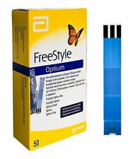 300 Abbott Freestyle Optium Glucose Test Strips with long Expire -6 Pack 50* 6