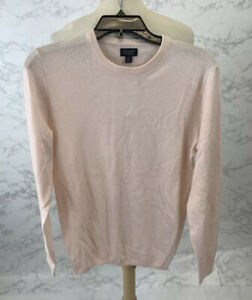 J Crew Mens Pink Cashmere crewneck sweater in solid J6384 $98