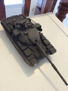 Built & painted Tamiya 1/35 scale Chieftain tank model and crewman