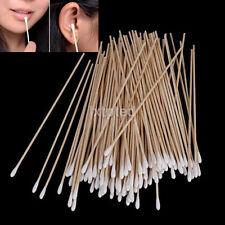 100Pcs Medical Swabs 6'' Long Wood Handle Sturdy Cotton Applicator Swab Q-tip~
