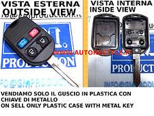 SOLO COVER GUSCIO PER TELECOMANDO FORD 4 TASTI PLASTIC CASE 4 BUTTON REMOTE