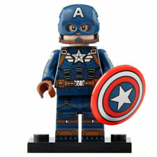 LEGO Superhero Marvel Comics Captain America Mjolnir V2 Minifigure- AU Seller