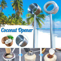 New Stainless Steel Coconut Opener Puncher Coconut Tool Coconut Hammer Kit Set
