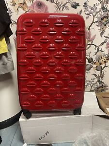 Lulu Guinness Dark Red Large Suitcase - Damaged *