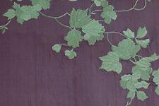 Tissu SOIE SAUVAGE brodée exceptionnelle  vendu au mètre bradé