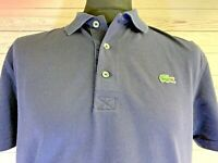 LACOSTE Men's Devanlay Polo Shirt Size 5 Large | Navy Blue | Short Sleeve