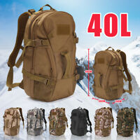 40L Military Tactical Army Rucksack Molle Backpack Camping Hiking Bag Travel  A