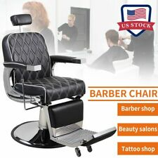 Barber Chair Heavy Duty Hydraulic Recline Styling Salon Beauty Spa Equipment