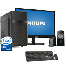 "Pc desktop intel quadcore assemblato Ram 8GB/Hdd 1Tb /Monitor 19"" Windows 10 Pro"