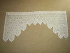 "Thick Ivory Lace Curtains 68"" W x 31"" L"