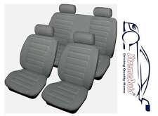 Bloomsbury gris con aspecto de cuero 8 Pce coche cubiertas de asiento Para Seat Ibiza Leon Toledo al