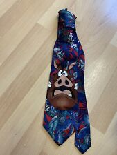 Tie Rack Lion King Tie Pumba 100% Silk Disney