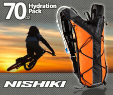 Hydration Pack by Nishiki 70 oz. Orange & Black. Comparable to Camelbak Backpack