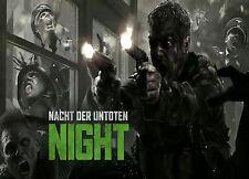 NAZI ZOMBIES_NACHT DER UNTOTEN_COD_LAMINATED MINI POSTER_STYLE 2 zombie maps