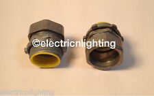 "COMPRESSION CONNECTORS w/ insulated throat 1/2"" - Pack of 45 electrical fittings"