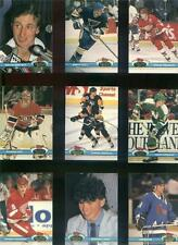 1991 - 1992 TOPPS STADIUM CLUB HOCKEY COMPLETE SET 400 CARDS IN HOCKEY BINDER
