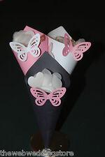 40 Confeti Conos-Boda-Mariposa Decoraciones-Listo no hizo Kit