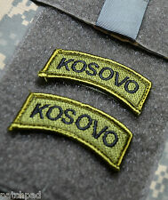Armabzeichen Patch in schwarz auf flecktarn SFOR