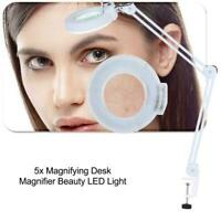 Large LED Lighted Lamp Desk Magnifier Magnifying Glass with Clamp LED Light NEW