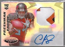 2014 Certified Freshman Fabric Charles Sims Auto 3 Color Patch Rc # /699