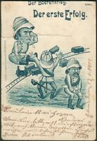 "Postkarte ""Der Boerenkrieg -Der erste Erfolg"" Elmshorn 17.1.1902 orig. gelaufen"