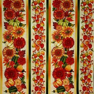 Sunflowers & Pumpkins Fabric Fat Quarter Cotton Craft Quilting Autumn Album