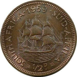SOUTH AFRICA - 1/2 PENNY - 1959