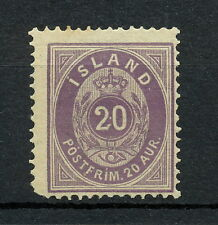 SKAB 002  ICELAND 1876 MNH Mich 10 Aa