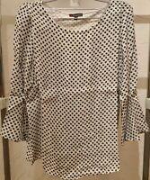 STREET ONE Damen Bluse Top Shirt Oberteil 3/4 arm Gr. 34, Farbe weiss geblümt ☆