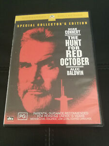 The Hunt For Red October DVD Sean Connery Alec Baldwin Spy/Politics Thriller