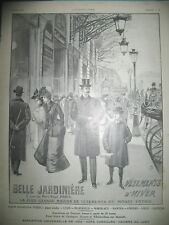 PUBLICITE DE PRESSE BELLE JARDINIERE MAGASIN VETEMENTS D'HIVER FRENCH AD 1901