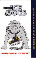 1995-96 LOS ANGELES ICE DOGS HOCKEY POCKET SCHEDULE  - INAUGURAL SEASON