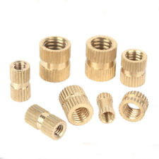 10pcs 1/4-20UNC brass nut muff injection insert embedded nuts muffs turn buckle