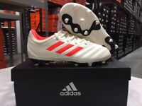 Adidas Junior Copa 19.3 FG Soccer Cleats (Offwhite/Red/Black) Size: 10k-6y NEW!