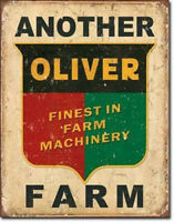 Oliver Farm Sign Machinery Farming Rustic Vintage Metal Advertising Tin New USA