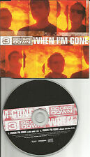3 DOORS DOWN When I'm gone RADIO EDIT EUROPE PROMO CD single USA Seller three